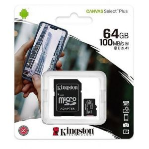 Card de memorie MicroSD Canvas Select Plus, 64GB, 100MB/s, cu adaptor