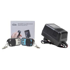 Alimentator cu 2 telecomenzi SilverCloud AP101 pentru yale electromagnetice si automatizari porti